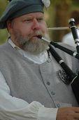 Bagpipe Player at War of 1812 Battle of Mississinewa reenactment