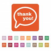 picture of thankful  - The thank you  icon - JPG