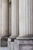 Columns in a roman temple