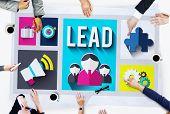 stock photo of mentoring  - Lead Leadership Management Mentor Boss Concept - JPG