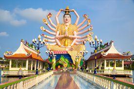 stock photo of shiva  - Shiva statue on Koh Samui island - JPG