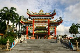image of taoism  - Front view of Chinese Taoism Temple in Sarawak - JPG