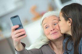 picture of grandma  - A kiss for grandma - JPG