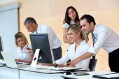 stock photo of people work  - Business people working in the office - JPG