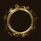 Gold Circle Glitter Background poster