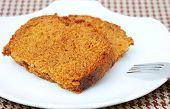 Pumpkin Bread On Plate