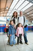 Standing Traveling Family  poster