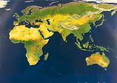 Eastern Hemisphere From Space
