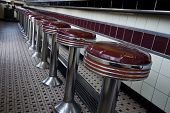 american 1950 style diner bar chairs