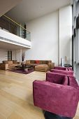 contemporary duplex penthouse apartment with mezzanine and nice frniture