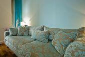 amazing luxury designer sofa with flower motif
