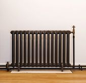 retro vintage hot wate heater in dark brown