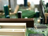 closeup of a computer main board