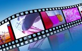 3D Film strip with chemical pictures