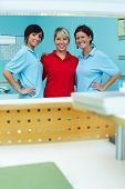 Three Happy Dental Technicians