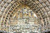 Notre Dame last judgment portal close u