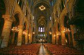 Notre Dame de Paris carhedral interior nav