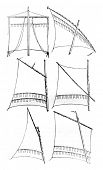 Постер, плакат: Sailing relates square Latin sail gaff sail sail sprit gunter Sailing Sailing has bourcet or lu