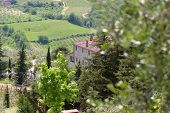 A view across the Tuscan hills Italy