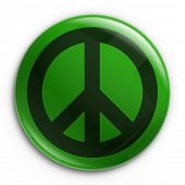 3d rendering of a badge with the peace sign