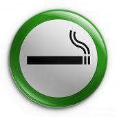 Постер, плакат: 3D рендеринга значок с Курение разрешено знак