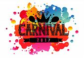 Hand Drawn carnival As Carnival Fair Logotype, Badge/icon poster