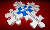Emergency Management Puzzle Pieces Mitigation Response 3d Illustration poster