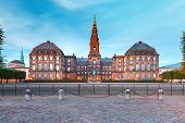 Christiansborg, Palace And Government Building, The Seat Of Parliament, In Central Copenhagen, Capit poster