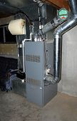 image of hot water  - A residential oil furnace  - JPG