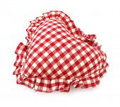 Pillow red and white heart shaped home decoration