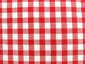 Textile cloth surface red and white
