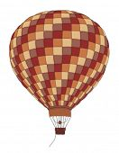 Balloon hot air Vintage Vector Illustration