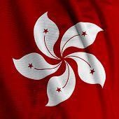 Hong Kong Flagge Closeup