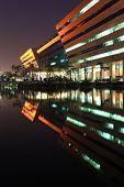 BANGKOK - DEC 20 : part of Government Complex Building shines at Dusk in Bangkok Thailand on Dec 20.2010 in Bangkok. Government Complex has 34 government units located at Chaeng Wattana St. in Bangkok.