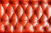 Background image of plush red leather from an antique seat