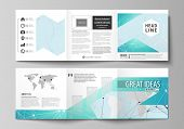 The Minimalistic Vector Illustration Of The Editable Layout. Two Modern Creative Covers Design Templ poster