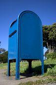 Sky Blue Mailbox poster