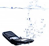 Phone Splashing Into Water - High Key