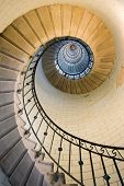 Eckmul lighthouse staircase, france brittany