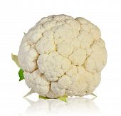 cauliflower is isolated on a white background