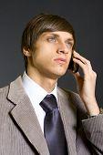 businessman on the phone