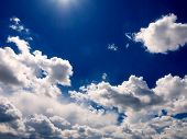 stock photo of clouds sky  - Sky and clouds - JPG