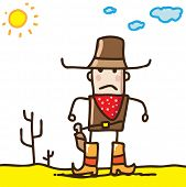 image of gunfighter  - Doodle cowboy - JPG