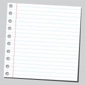 Empty piece of paper
