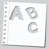 Holey A,B,C letters