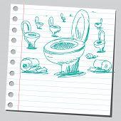Gekritzel WC Schalen