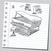 Scribble pianos