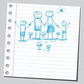 Scribble happy family