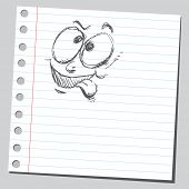 Scribble silly face
