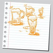 Scribble beer mugs